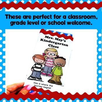 Meet the Teacher template editable brochure