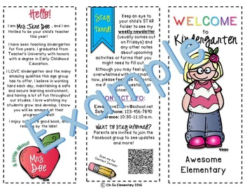 Meet the Teacher Brochures EDITABLE!