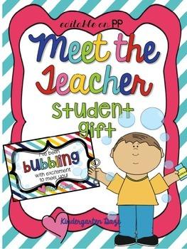 Meet the Teacher Bubble Labels
