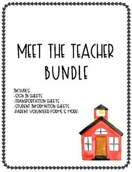 Meet the Teacher Bundle