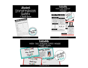 Meet the Teacher Bundle-Arrow Theme