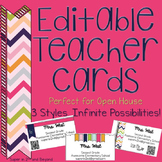 Meet the Teacher Business Cards for Open House