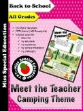 Meet the Teacher - CAMPING THEME - Editable Document - PPTX - ALL GRADES