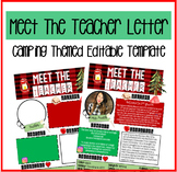 Meet the Teacher CAMPING themed/Editable Template!