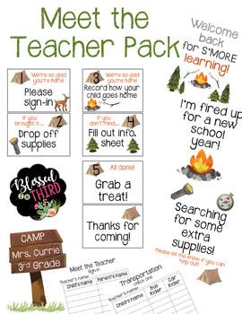 Meet the Teacher Camping Theme