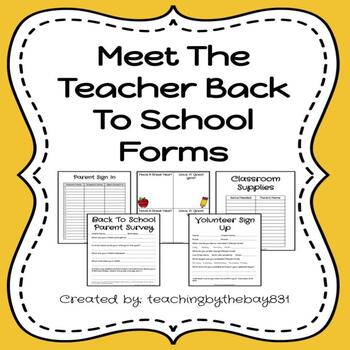 Meet the Teacher Classroom Posters