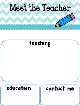 Meet the Teacher / Conocer al maestro/a English Spanish Freebie