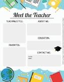 Meet the Teacher / Conozca al Maestro