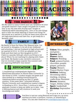 Meet the Teacher-Crayons