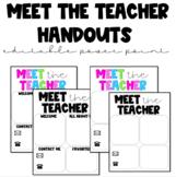Meet the Teacher! Download & edit template