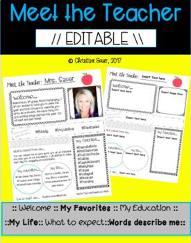 Meet the Teacher {EDITABLE}