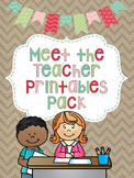 Meet the Teacher {EDITABLE}