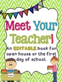 Meet the Teacher EDITABLE Book