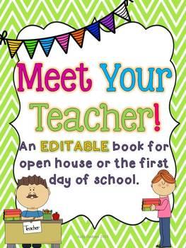 Meet the Teacher EDITABLE Book