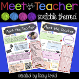 Meet the Teacher EDITABLE Flyer/Handout (Scribble Themed)