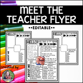 Meet the Teacher {EDITABLE} Flyer or Handout