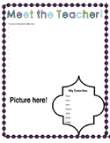 Meet the Teacher EDITABLE Printable Back to School Night Page!