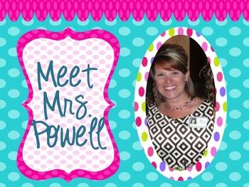 Meet the Teacher EDITABLE Slideshow!
