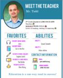Meet the Teacher - Editable Pamphlet