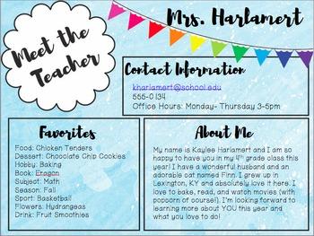 Meet the Teacher (Editable!)