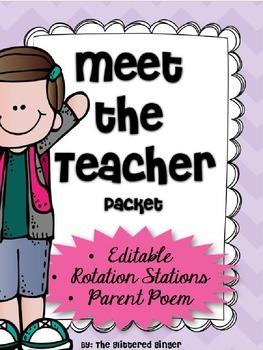Meet the Teacher - Editable