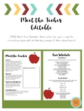 Meet the Teacher Editable - FREE