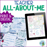 Meet the Teacher EDITABLE for Back to School Printable & Digital