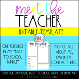 Meet the Teacher Editable