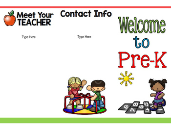 Meet the Teacher Editable BROCHURE