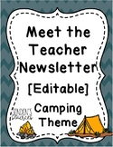 Meet the Teacher Editable Camping Theme