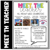 Meet the Teacher Editable File for Back to School