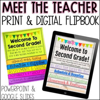 Meet the Teacher Editable Flip Book Digital and Printable Bundle