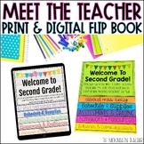 Meet the Teacher Template | Editable Flip Book | Digital a