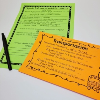 Meet the Teacher: Editable Forms and Handouts ENGLISH/SPANISH BUNDLE