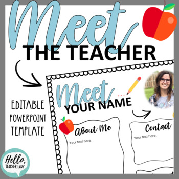 Meet the Teacher - Editable Handout for Back to School