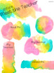 Meet the Teacher: Editable Info Sheet in Tropical Watercolors