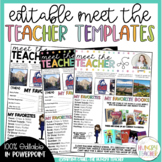 Meet the Teacher Editable Infographic Templates