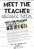 Meet the Teacher- Editable Letter Farmhouse/Tropical design