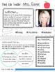 Meet the Teacher & Student Editable Template