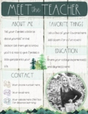 Meet the Teacher - Editable - Mountain Theme
