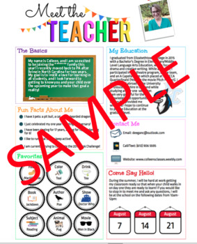 Meet the Teacher Editable Newsletter Template