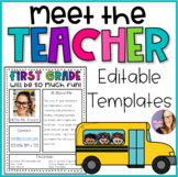 Meet the Teacher Editable Newsletter Templates