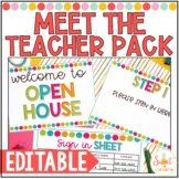 Meet the Teacher Editable Packet