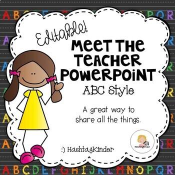 Meet the Teacher/Back to School - Editable PowerPoint - ABC Style