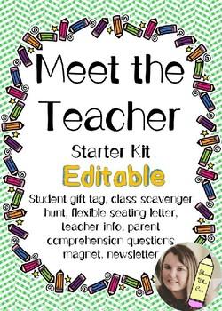 Meet the Teacher- Editable Starter Kit