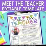 Meet the Teacher Template Editable | Distance Learning