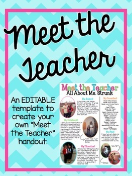 Meet the Teacher - Editable Template