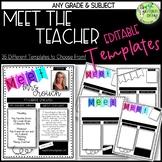 Meet the Teacher Template, EDITABLE