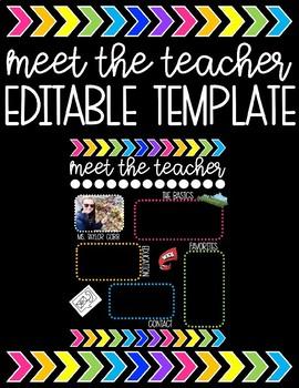 Meet the Teacher Editable Template (Black)