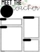 Meet the Teacher Editable Template (Farmhouse/Shiplap)